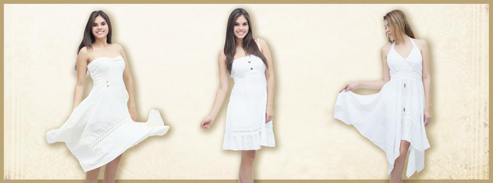 Vestidos de fiesta gamarra blanco